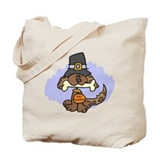 Thanksgiving Puppy Tote Bag