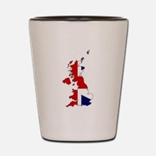 United Kingdom Map and Flag Shot Glass