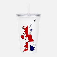 United Kingdom Map and Acrylic Double-wall Tumbler