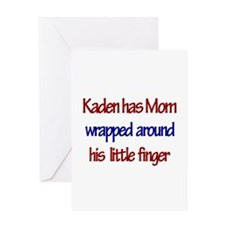Kaden - Mom Wrapped Around F Greeting Card