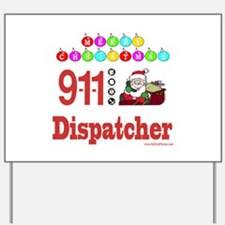 911 Dispatcher Christmas Gift Yard Sign