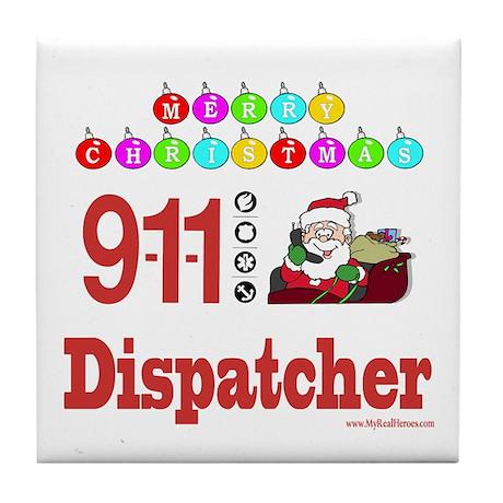 911 Dispatcher Christmas Gift Tile Coaster