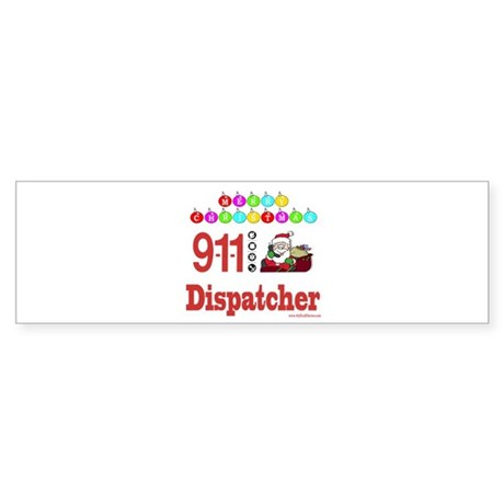 911 Dispatcher Christmas Gift Bumper Sticker