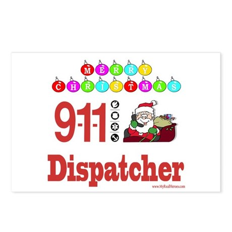 911 Dispatcher Christmas Gift Postcards (Package o