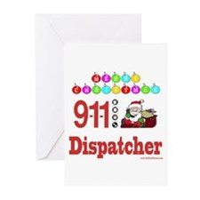 911 Dispatcher Christmas Gift Greeting Cards (Pk o