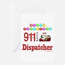 911 Dispatcher Christmas Gift Greeting Cards (Pk o