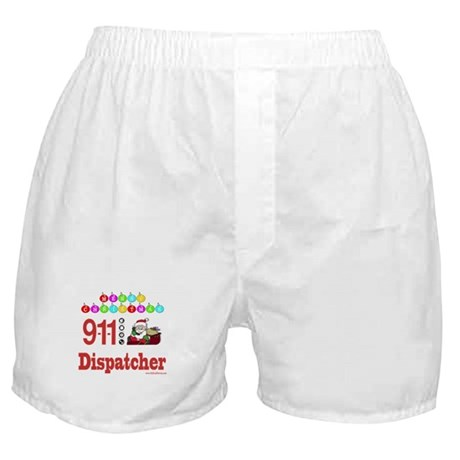 911 Dispatcher Christmas Gift Boxer Shorts