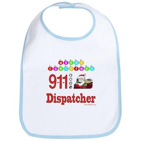 911 Dispatcher Christmas Gift Bib
