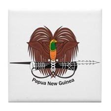 Papua New Guinea Coat of Arms Tile Coaster