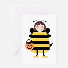 Bee Costume Greeting Cards