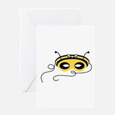 Bee Mask Greeting Cards