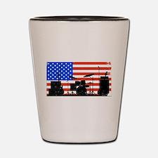 USA Rock Band Shot Glass