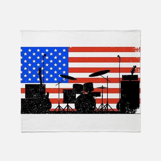 USA Rock Band Throw Blanket