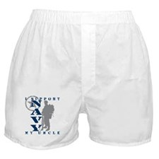 I Support Uncle 2 - NAVY Boxer Shorts