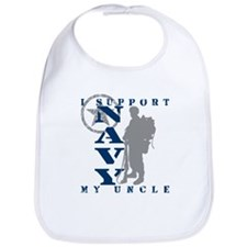 I Support Uncle 2 - NAVY Bib
