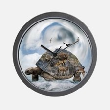 Turtle World Animals Wall Clock