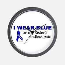 I Wear Blue For My Sister's Pain Wall Clock