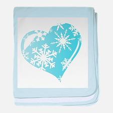 Ice Heart baby blanket