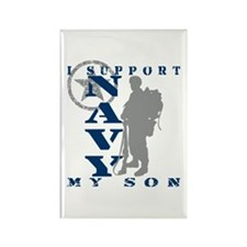 I Support Son 2 - NAVY Rectangle Magnet