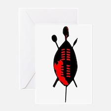 Zulu Shield Greeting Cards