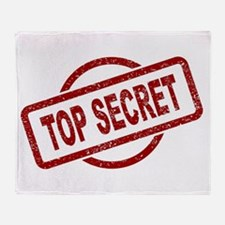 Top Secret Stamp Throw Blanket