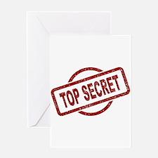 Top Secret Stamp Greeting Cards