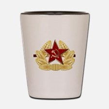 Soviet Cap Badge Shot Glass