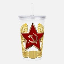 Soviet Cap Badge Acrylic Double-wall Tumbler