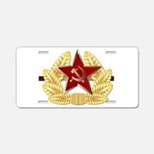 Soviet Cap Badge Aluminum License Plate