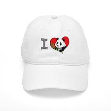 I heart pandas Baseball Cap