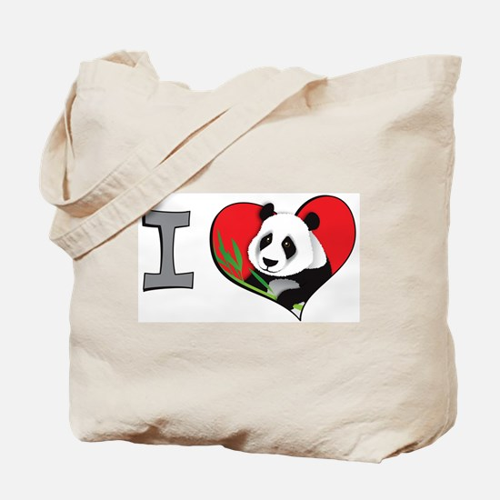 I heart pandas Tote Bag