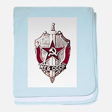 KGB Badge baby blanket