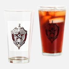 KGB Badge Drinking Glass