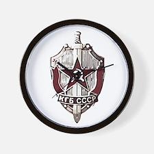 KGB Badge Wall Clock