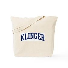 KLINGER design (blue) Tote Bag