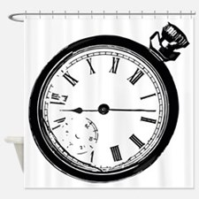 Broken Pocket Watch Shower Curtain
