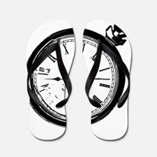 Broken Pocket Watch Flip Flops