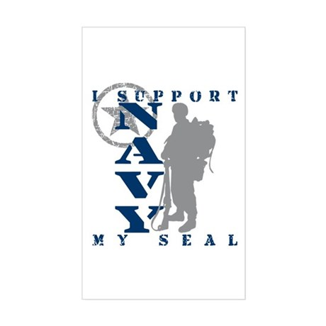 Seal Proudly Serves - NAVY Rectangle Sticker