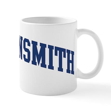 Klingensmith design blue mug by surnamealot for Blue mug designs