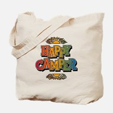 Happy Camper Retro Rainbow Tote Bag