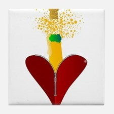 Love Champagne Tile Coaster