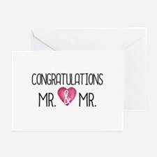 Wedding Congrats Mr & Mrs s Greeting Cards