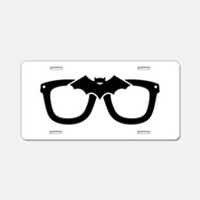Bat Glasses Aluminum License Plate