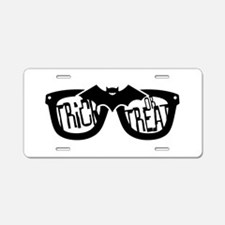 Trick or Treat Glasses Aluminum License Plate