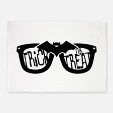 Trick or Treat Glasses 5'x7'Area Rug