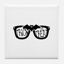 Trick or Treat Glasses Tile Coaster