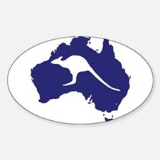 Australia Map With Kangaroo Silhouette Decal