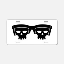 Skull Glasses Aluminum License Plate