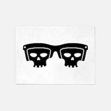 Skull Glasses 5'x7'Area Rug