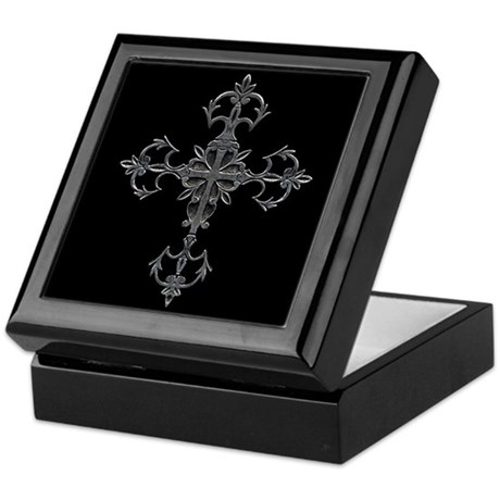 Large Cross Keepsake Box